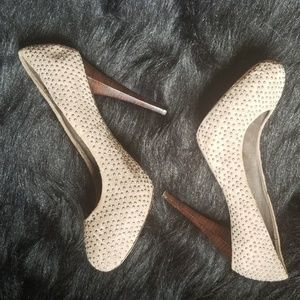 Dolce Vita Shoes - Dolce Vita Vero Cuoio Studded Suede Heels